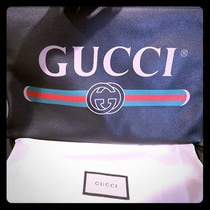100% Authentic Gucci Print Large Document Holder
